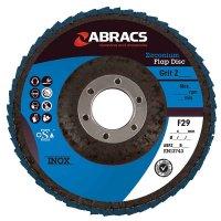 ABRACS 4* FLAP DISC STEEL/STAINLESS STEEL ZIRCONIUM PRO 115X22.2 K60 (1PC)