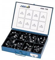 ASSORTMENT ABA 130C PIPE CLAMPS 130-PIECE (1PC)