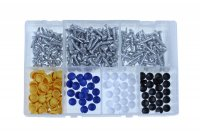 ASSORTMENT NUMBER PLATE SCREWS + CAP 350-PIECE (1PC)
