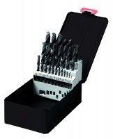 TWIST DRILL SET HSS FORGED 25-PIECE (1PC)