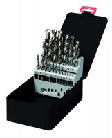 TWIST DRILL SET HSS-S POLISHED 25-PIECE (1PC)