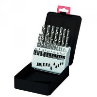 TWIST DRILL SET HSS-TIN COATED 19-PIECE (1PC)
