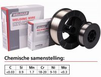 WELDING WIRE STAINLESS STEEL 308 LSI Ø 1.0MM 15KG (1PC)