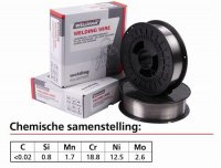 WELDING WIRE STAINLESS STEEL 316 LSI Ø 0.8MM 15KG (1PC)